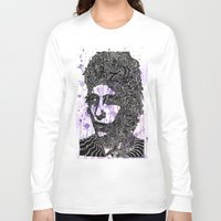 bob dylan Long Sleeve T-shirts featuring Bob Dylan by Travis Poston