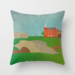 St Andrews - Swilcan Bridge Throw Pillow