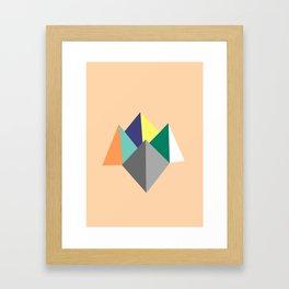 Paku Paku, original colours on peach Framed Art Print