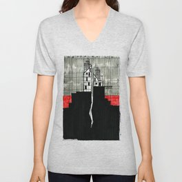 Imaginary architectures #16 Unisex V-Neck