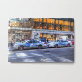 New York police Department Cars Metal Print