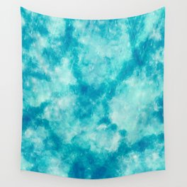 Cute Blue abstract paint Wall Tapestry