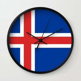 Flag of Iceland - High Quality Image Wall Clock