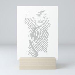 Sardinian fingerprint (black) Mini Art Print