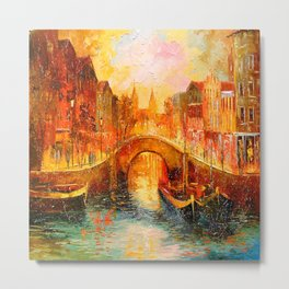In the evening in Amsterdam Metal Print