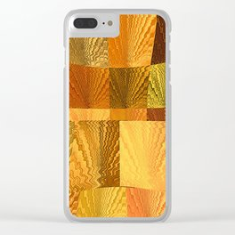 Abstract Digital Artwork Golden State Clear iPhone Case