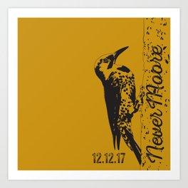 Yellowhammer NoMoore (Gold variation) Art Print