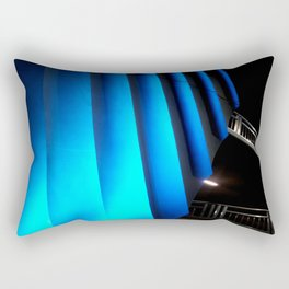 Exotic Blue Rectangular Pillow
