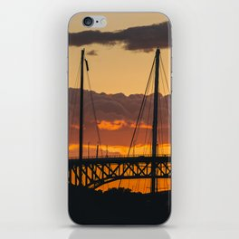 Vancouver Sunset sky textures iPhone Skin