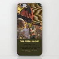 stanley kubrick iPhone & iPod Skins featuring Full Metal Jacket - Stanley Kubrick by Smart Store