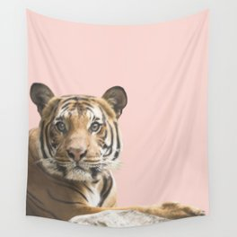 Pink Tiger Wall Tapestry