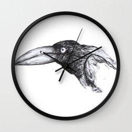crow 5 Wall Clock