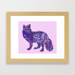 Fox by Night Framed Art Print