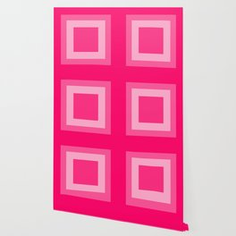 Pink Square Design Wallpaper