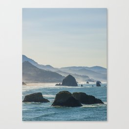 Haystack Rock from Crescent Point Canvas Print