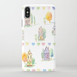 Little Houses: Staying Home iPhone Case