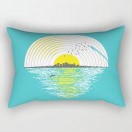 Morning Sounds Rectangular Pillow