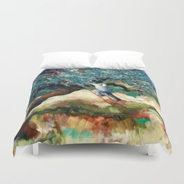 it's greek to me Duvet Cover