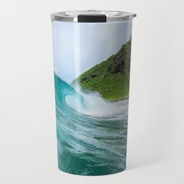 Beautiful Blue Hollow Waves Travel Mug