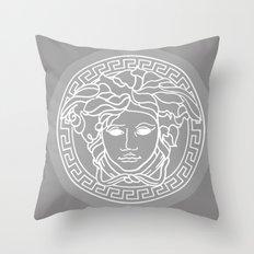 Versace Grey Throw Pillow
