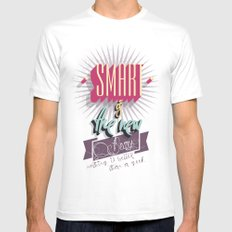Smart is the new Sexy! MEDIUM White Mens Fitted Tee