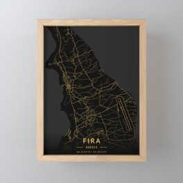 Fira, Greece - Gold Framed Mini Art Print