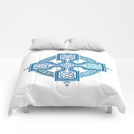 St. Patrick's Day Celtic Blue Cross Comforters