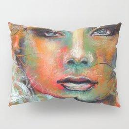 Little Colorgirl Original Painting Pillow Sham