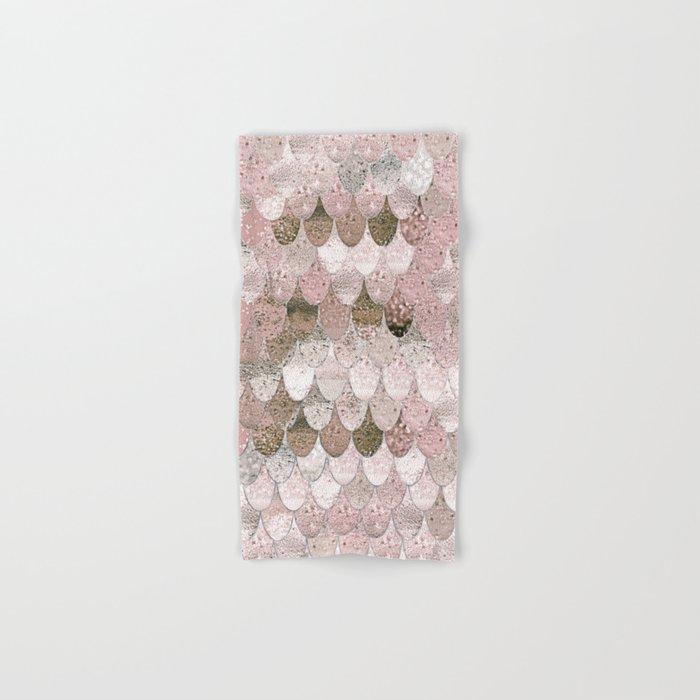 SUMMER MERMAID NUDE ROSEGOLD by Monika Strigel Hand & Bath Towel