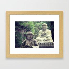 2 Statues  Framed Art Print