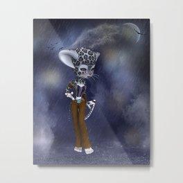 Native Snow Leopard Metal Print