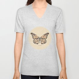 Bullet with Butterfly Wings Unisex V-Neck