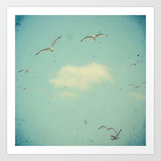 Circle of Birds Art Print