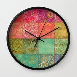 Royal Patchwork Wall Clock