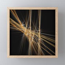 Firecracker | Geometric Line Abstract Framed Mini Art Print