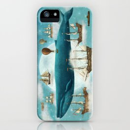 Ocean Meets Sky (from book)- square format iPhone Case