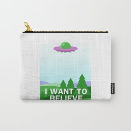 """""""I want to believe"""" cartoon style Carry-All Pouch"""