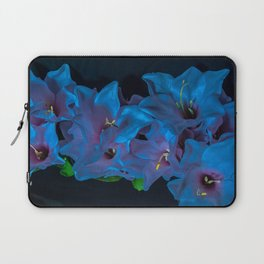 Electric Blue Flowers Laptop Sleeve