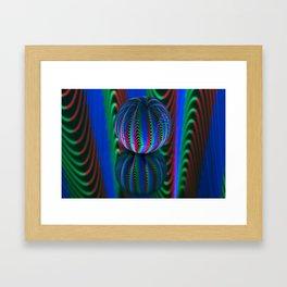 Segments in the crystal ball Framed Art Print