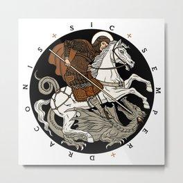 Sic Semper Draconis Metal Print