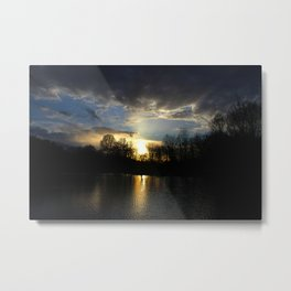 Sunset On Sinizzo Lake Metal Print