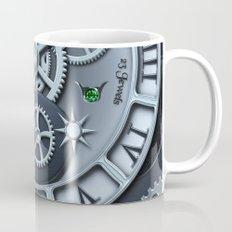 Steampunk clock silver Mug