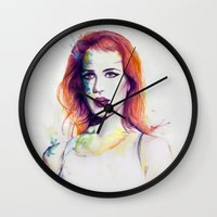 paramore Wall Clocks featuring If There's a Future by André Luiz Barbosa