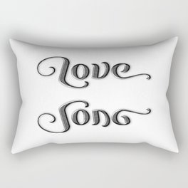 LOVE SONG ambigram Rectangular Pillow