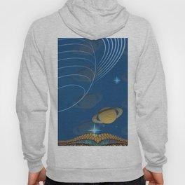 Saturn Planet Retro Vintage Space Landscape Hoody