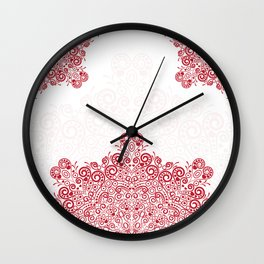 Mandala background Wall Clock