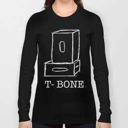 T-Bone Apple box (white) Long Sleeve T-shirt