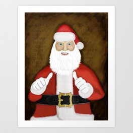 Thumbs (the Santa Claus edition) Art Print