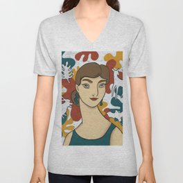 Virgo by Amanda Laurel Atkins Unisex V-Neck