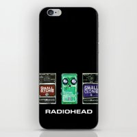 radiohead iPhone & iPod Skins featuring Radiohead Pedals Bedroom Rockstar  by James Peart